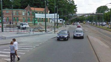 L'accident a eu lieu sur l'avenue de Tervueren, à hauteur du Musée du Tram (illustration).