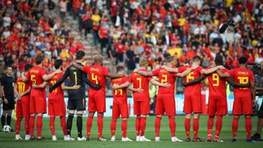 Les Diables rouges durant le match amical face au Portugal le 2 juin.