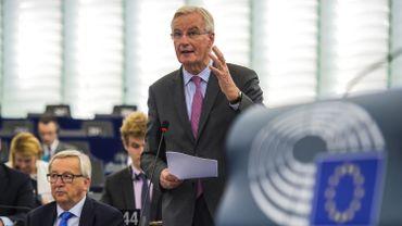 Le négociateur en chef de l'UE pour le Brexit, Michel Barnier, le 3 octobre 2017 au Parlement européen à Strasbourg