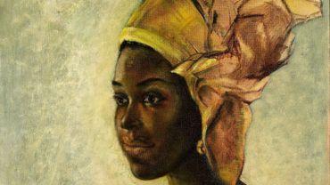 """""""Christine"""", un portrait réalisé par l'artiste nigérian Ben Enwonwu s'est vendu mardi plus d'un million de livres aux enchères à Londres."""