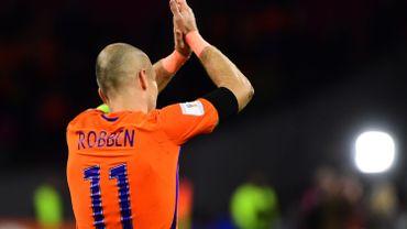 Robben met fin à sa carrière internationale sur un doublé