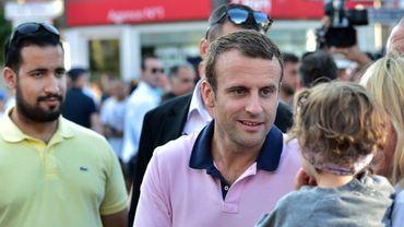 Alexandre Benalla à côté d'Emmanuel Macron