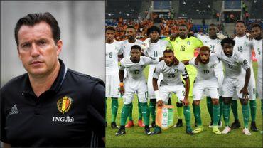Marc Wilmots et l'équipe ivoirienne