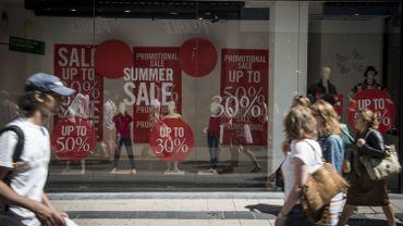 Les magasins de vêtements ont vu leur chiffre d'affaires baisser de 7% durant l'automne, par rapport à la même période un an plus tôt.