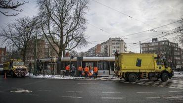 Un tram a déraillé à l'arrêt Vanderkinderen