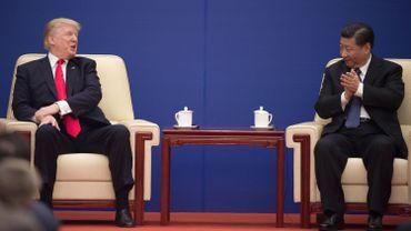 Donald Trump et Xi Jinping se sont rencontrés à Pékin le 9 novembre 2017 lors d'un événement business