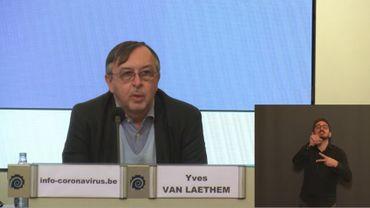 Yves Van Laethem, le porte-parole interfédéral.