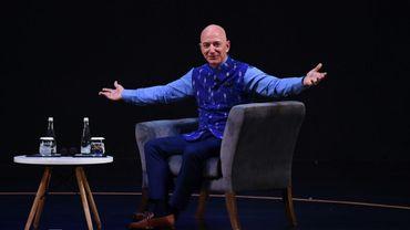 Jeff Bezos, le fondateur d'Amazon, le 14 janvier 2020 à New Delhi
