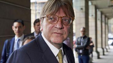 Le chef de groupe des libéraux au Parlement européen, Guy Verhofstadt
