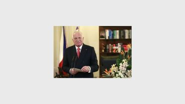 Le président Vaclav Klaus le 1er janvier 2013 à Prague