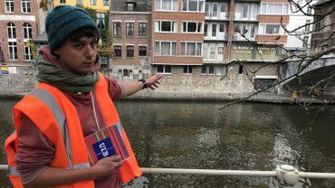 C'est à l'endroit indiqué par Christophe Delaere (CREA-Patrimoine), de l'autre côté de la Sambre, que les fouilles auront lieu dans le lit de la rivière