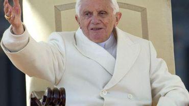 Le pape Benoît XVI en audience générale au Vatican