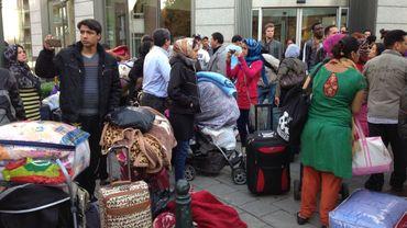 Les Afghans ont été délogés de leur squat rue du Trône