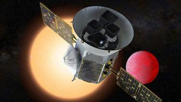 Illustration, remise par la Nasa le 25 mars 2018,  du nouveau télescope TESS dont la mission sera de chercher des exoplanètes susceptibles d'abriter la vie