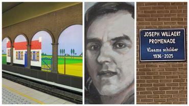 La station Clemenceau a été décorée par Joseph Willaert, mort en 2014 dans la vraie vie, mais en 2025 sur une plaque.