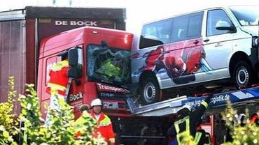 La camion accidenté