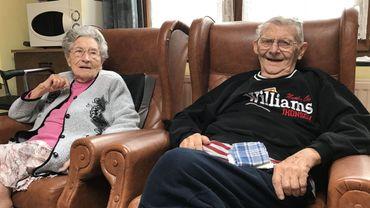 Le couple a fêté ses 75 ans de mariage, chez lui, à Quaregnon.