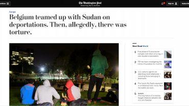 Soudanais renvoyés malgré les tortures: la Belgique et Theo Francken épinglés par le Washington Post