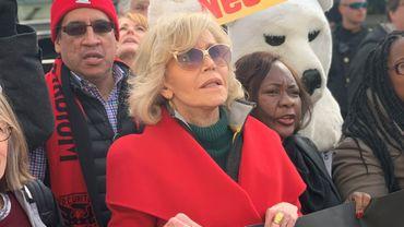 Jane Fonda parmi les manifestants à Washington