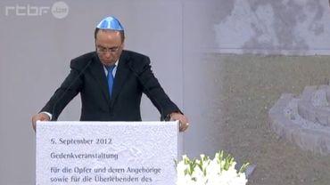 Le vice-premier ministre israélien, Silvan Schalom, a pris la parole lors de la cérémonie de commémoration.