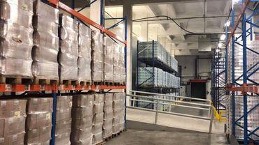 Le nouveau bâtiment de la Banque Alimentaire de Bruxelles-Brabantà Neder-over-Hembeek situé dans une ancienne brasserie