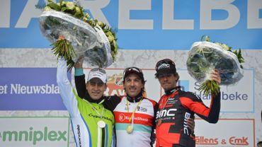 Le podium 2013 avec Sagan, Cancellara et Oss