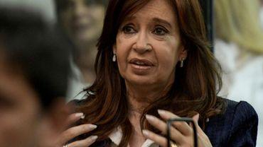 L'ex-présidente argentine Cristina Kirchner devant le Tribunal de Comodoro Py à Buenos Aires, le 21 mai 2019