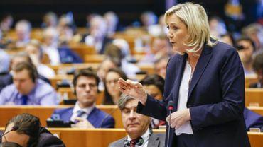 Marine Le Pen au Parlement européen lors d'une plénière extraordinaire en juin dernier