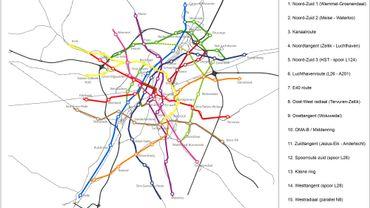 Plan du RER Vélo