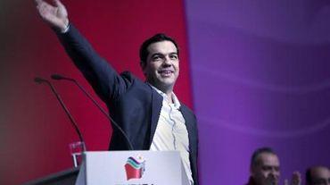 Alexis Tsipras, chef du parti de gauche Syriza,  en tête des sondages avant les élections législatives de janvier, à Athènes le 3 janvier 2015