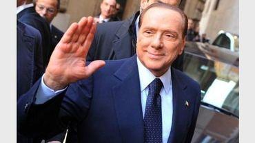 Silvio Berlusconi arrive au Parlement à Rome le 18 novembre 2011