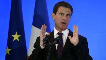 Manuel Valls le 20 mai 2016 à Privas (Ardèche).