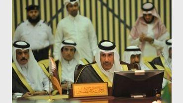 Le Premier ministre et ministre des Affaires étrangères du Qatar, lors d'une réunion des monarchies arabes du Golfe, le 3 avril 2011 à Ryad