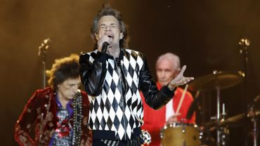 Mick Jagger et les Rolling Stones en concert à Chicago