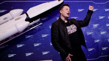 Le patron de Tesla et SpaceX, Elon Musk, lors des Axel Springer Awards à Berlin, le 1er décembre 2020