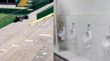 Les toilettes et les tribunes de Chapecoense nettoyées par les supporters adverses.