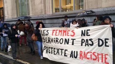 Début du rassemblement, rue de la Loi à Bruxelles