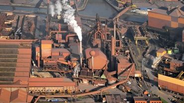 Vue générale du site Carsid à Charleroi
