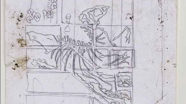 Vincent Glowinski, Maquette pour squelette sur mur mitoyen, 2008 / crayon sur papier