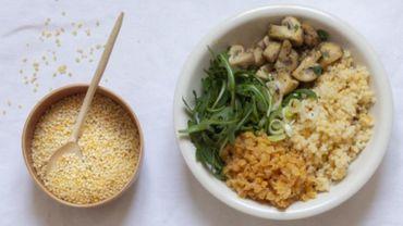 Recette: Buddha Bowl aux perles de blé dur et champignons