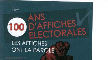 """Exposition """"100 ans d'affiches électorales"""" à la bibliothèque de Flémalle"""
