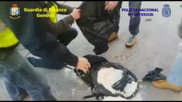 Prise record en Italie: 500 millions d'euros de cocaïne saisie