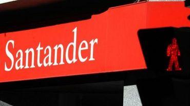 Le logo de la banque espagnole Banco Santander