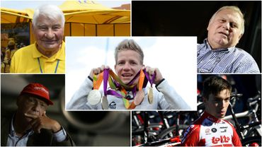 Raymond Poulidor, Robert Waseige, Marieke Vervoort, Niki Lauda et Bjorg Lambrecht