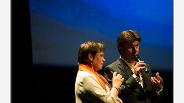 Alda Greoli et Sven Gatz aux Prix de la Critique 2016