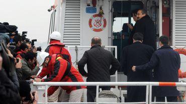 Le Parti pour la paix et la démocratie (BDP) embarque l'île Imrali à Istanbul, le 23 février pour y rencontrer le leader du PKK, Abdullah Ocalan.