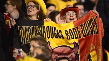 Les supporters des Diables Rouges
