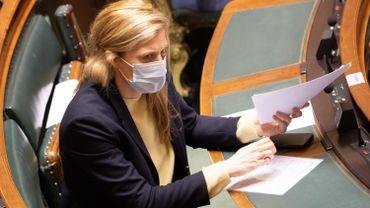 Annelies Verlinden (CD&V), la ministre de l'Intérieur, à la Chambre le 28 janvier 2021.