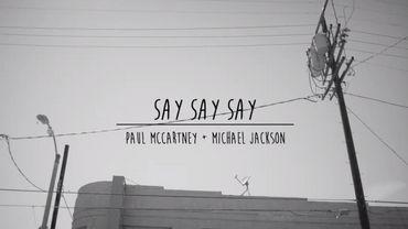 """Le clip du remix de """"Say Say Say"""" par Paul McCartney et Michael Jackson"""