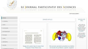 """Le Journal participatif des Sciences (www.jpas.fr) est constitué de courts articles illustrés, écrits en français, dans un style qui se veut """"abordable par tous"""""""